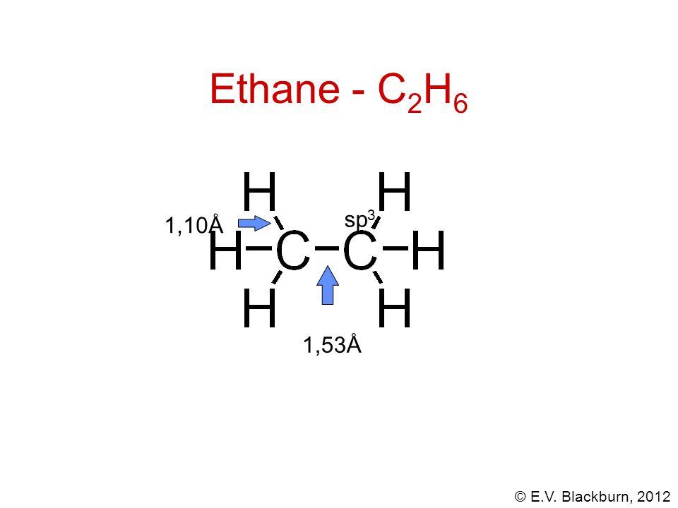 Ethane - C2H6 sp3 1,10Å 1,53Å