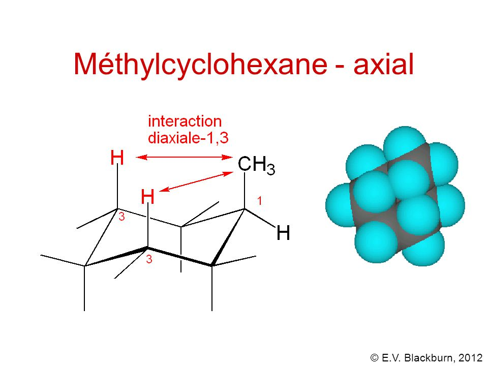 Méthylcyclohexane - axial