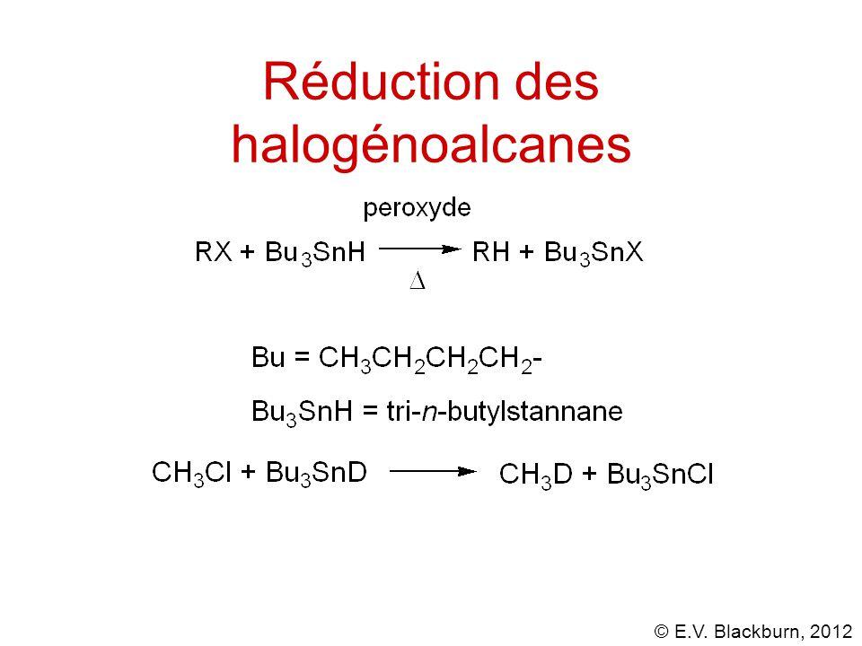 Réduction des halogénoalcanes