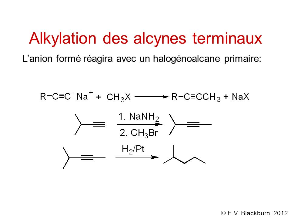 Alkylation des alcynes terminaux