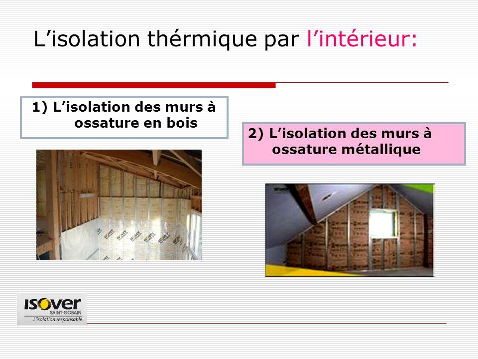 L'isolation thérmique par l'intérieur: