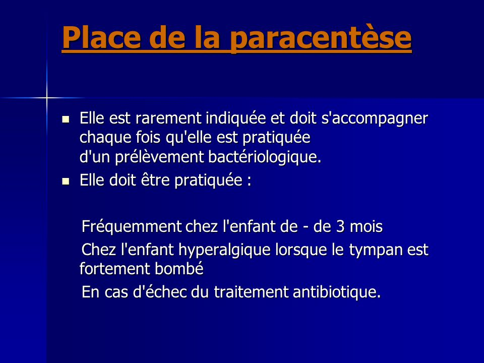 Place de la paracentèse