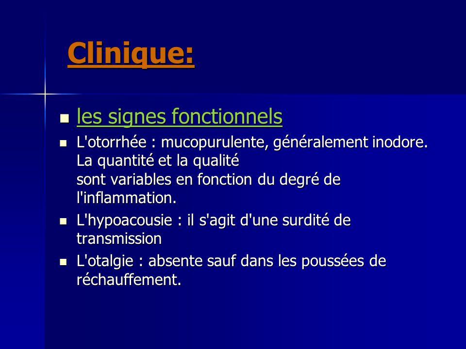 Clinique: les signes fonctionnels