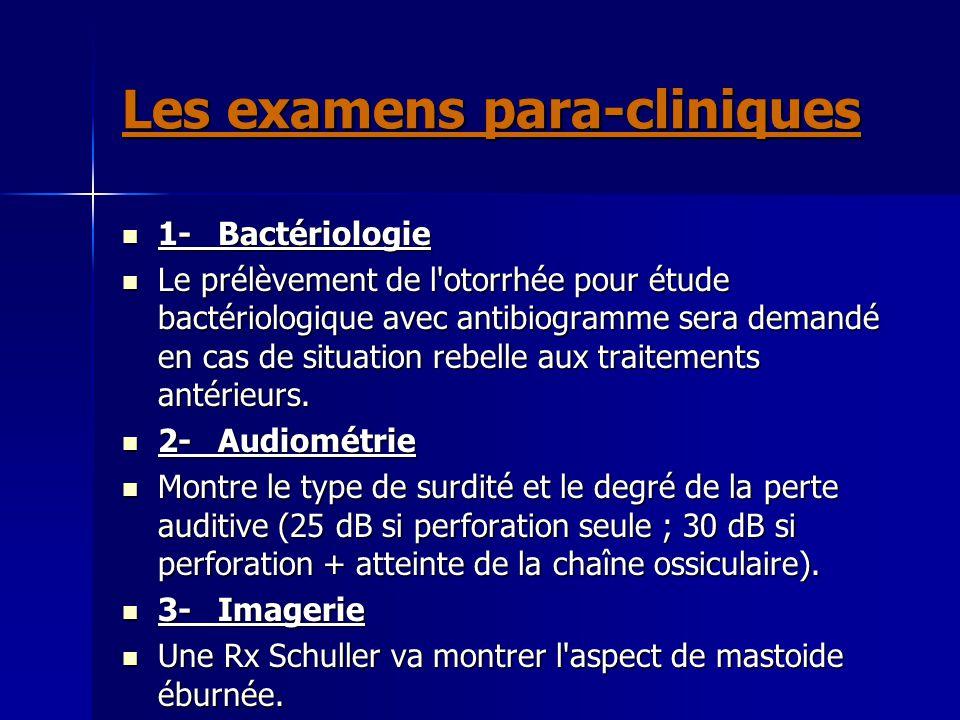 Les examens para-cliniques