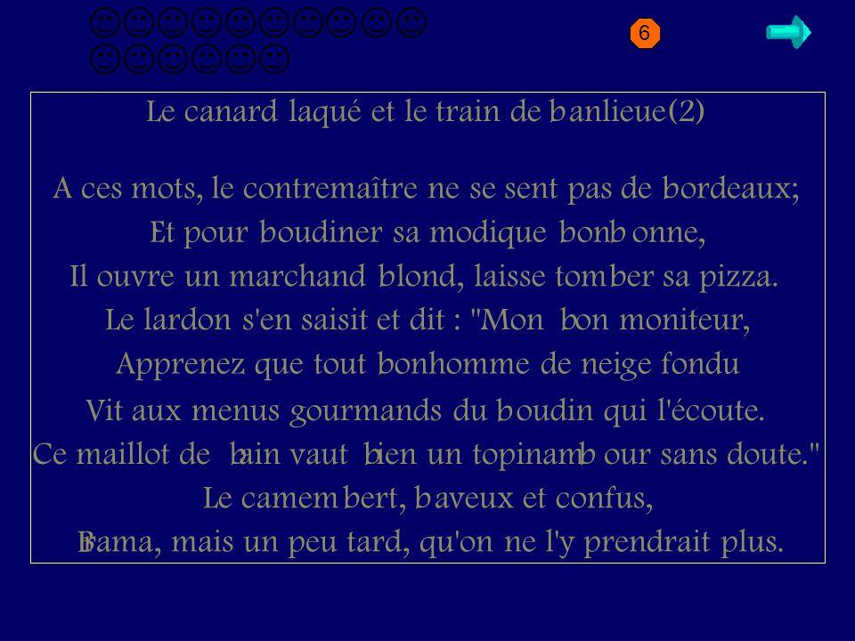 B2.2 Le canard laqué et le train de anlieue(2) b