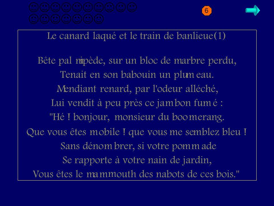 M2.1 canard Le canard laqué et le train de banlieue(1)