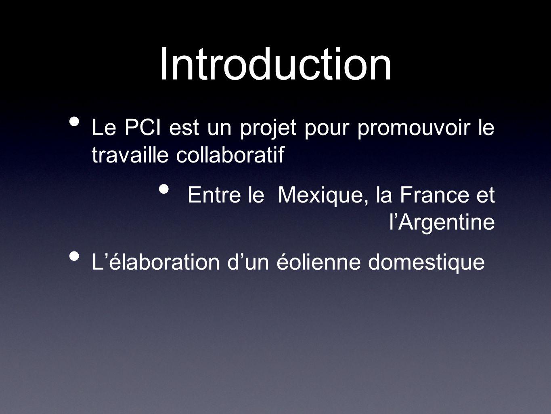 Introduction Le PCI est un projet pour promouvoir le travaille collaboratif. Entre le Mexique, la France et l'Argentine.