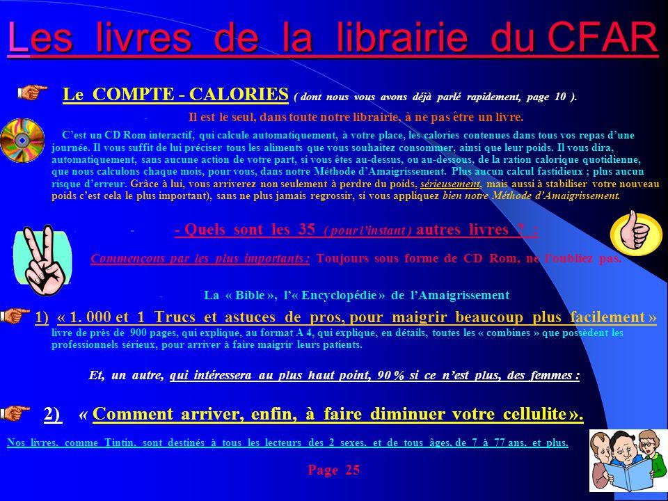 Les livres de la librairie du CFAR