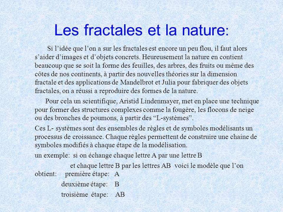 Les fractales et la nature: