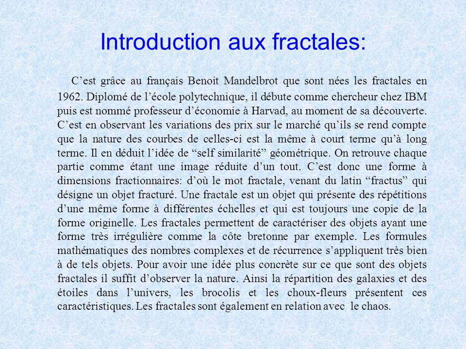 Introduction aux fractales:
