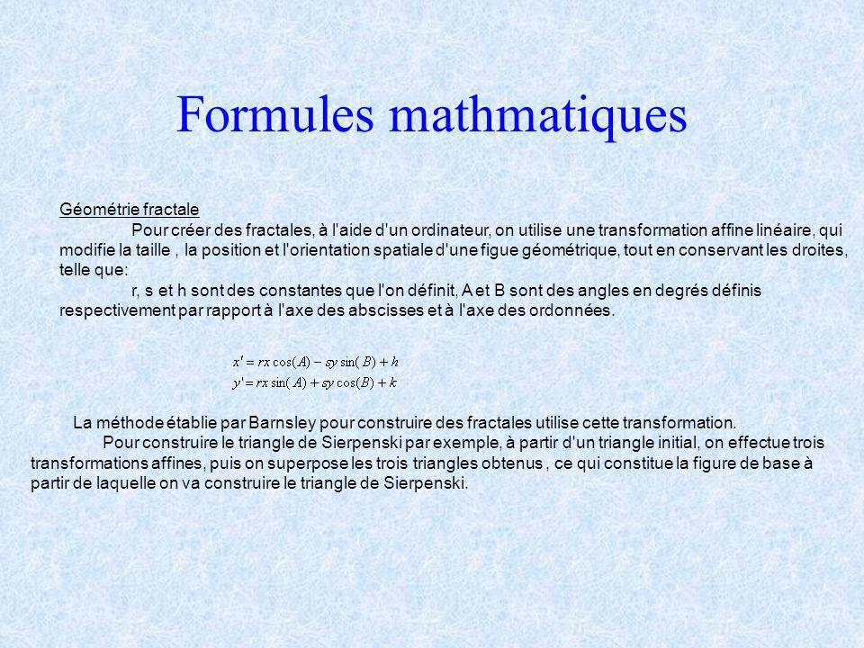 Formules mathmatiques