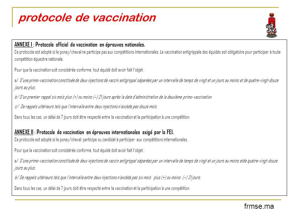 protocole de vaccination