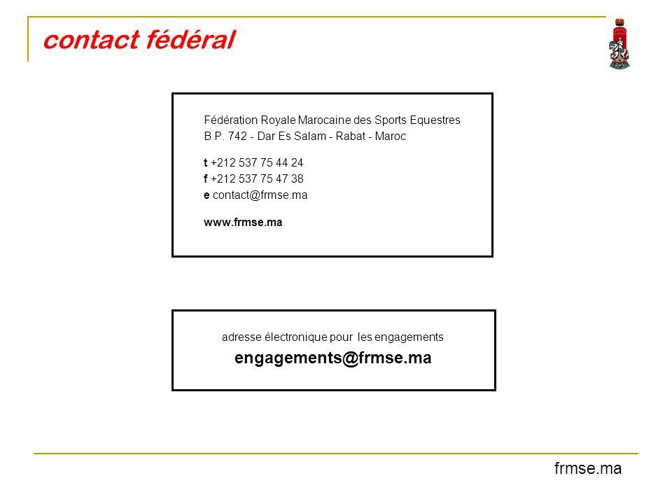 adresse électronique pour les engagements