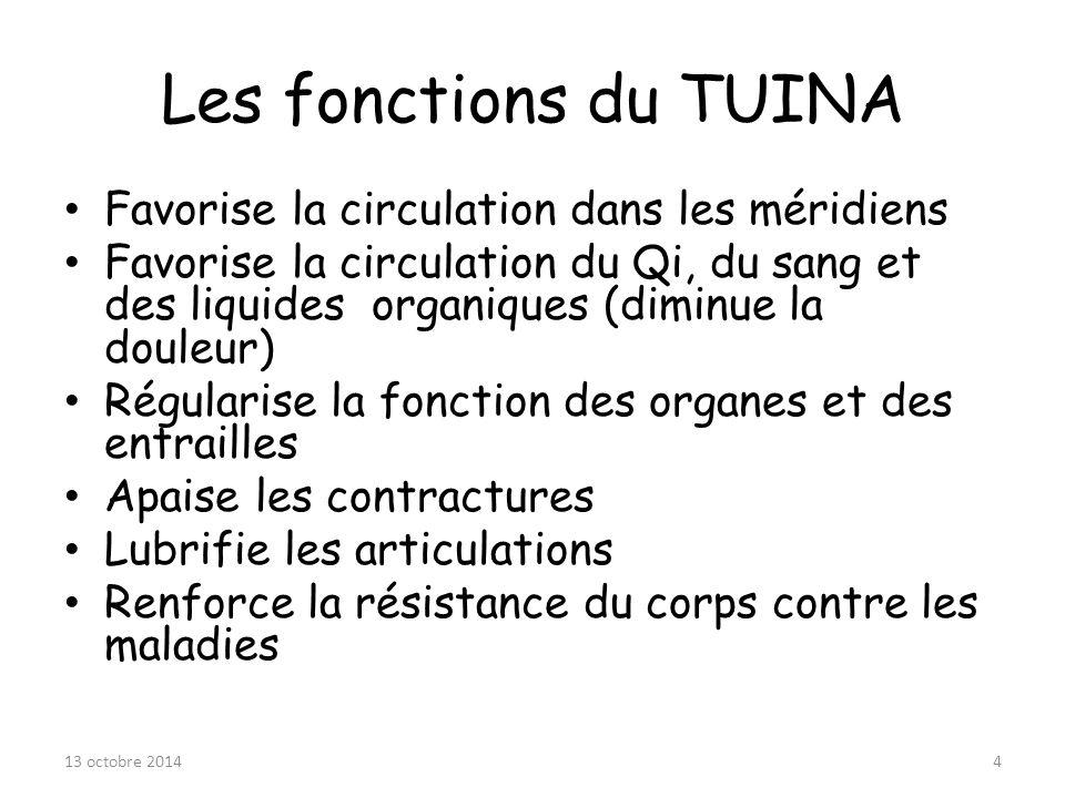 Les fonctions du TUINA Favorise la circulation dans les méridiens