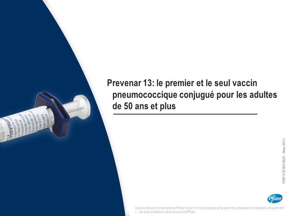 Prevenar 13: le premier et le seul vaccin pneumococcique conjugué pour les adultes de 50 ans et plus
