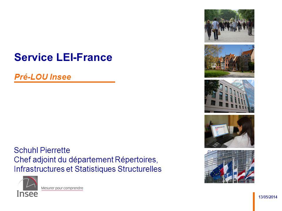 Service LEI-France Pré-LOU Insee 13/05/2014