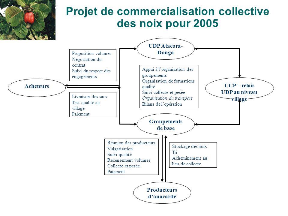 Projet de commercialisation collective des noix pour 2005