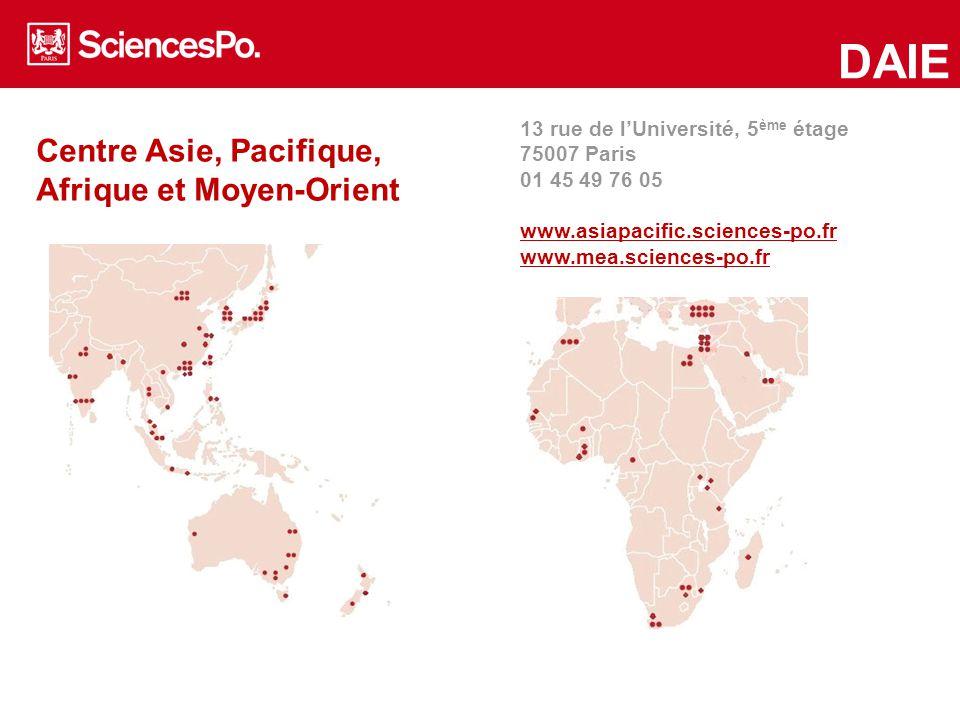 DAIE Centre Asie, Pacifique, Afrique et Moyen-Orient