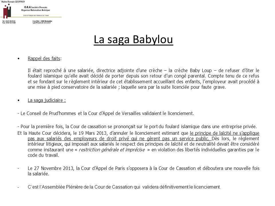 La saga Babylou Rappel des faits: