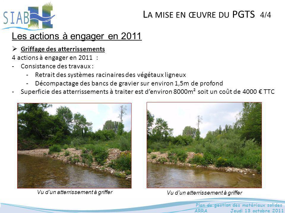 La mise en œuvre du PGTS 4/4