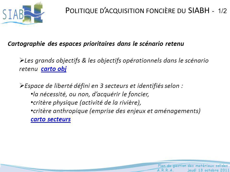 Politique d'acquisition foncière du SIABH - 1/2