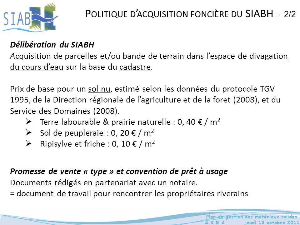 Politique d'acquisition foncière du SIABH - 2/2