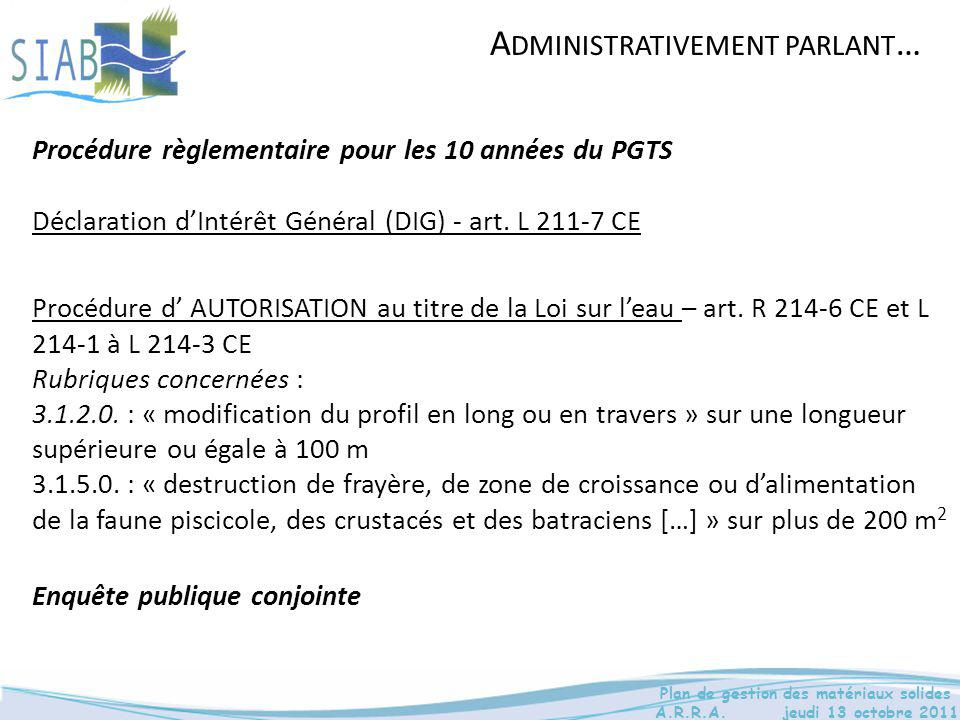 Administrativement parlant…
