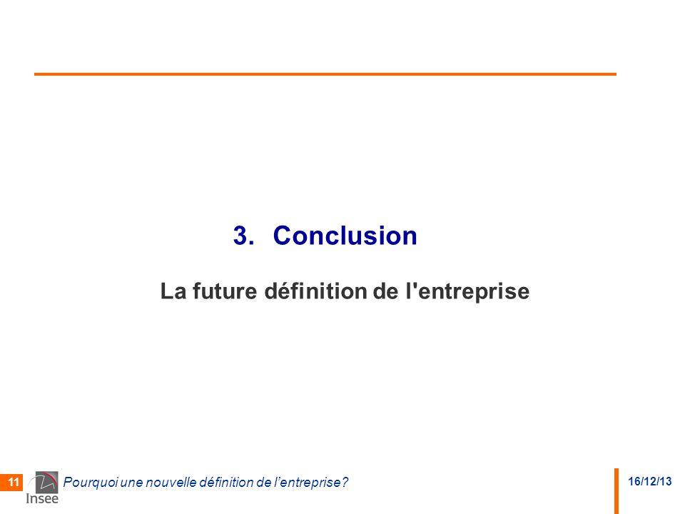 Conclusion La future définition de l entreprise