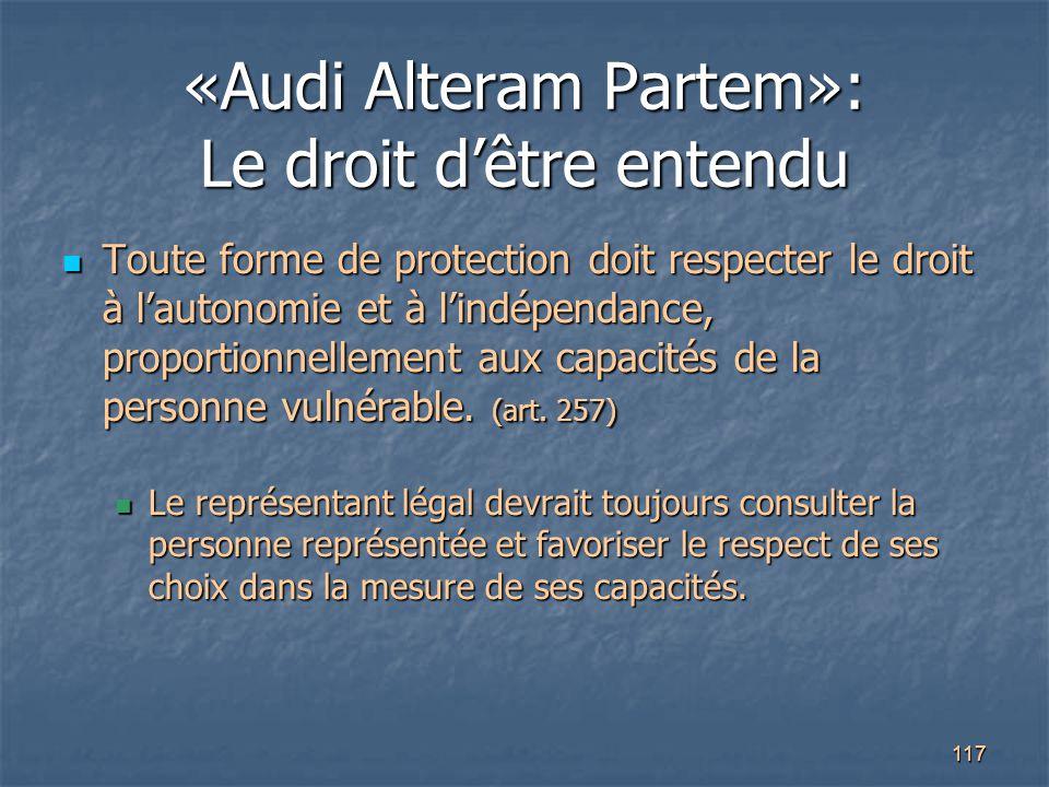 «Audi Alteram Partem»: Le droit d'être entendu
