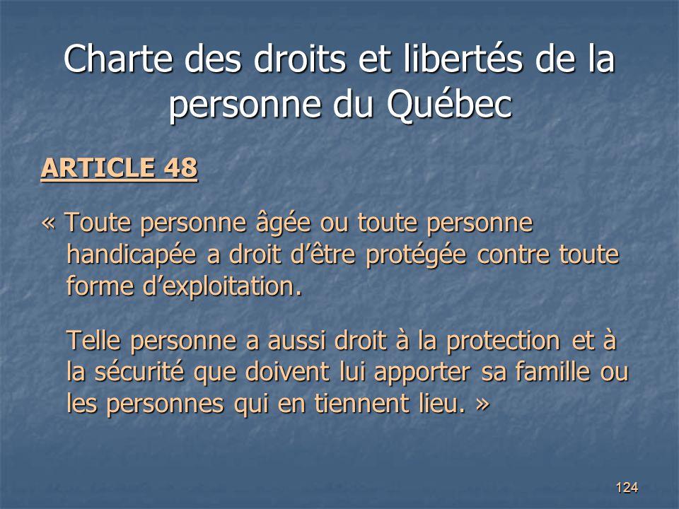 Charte des droits et libertés de la personne du Québec