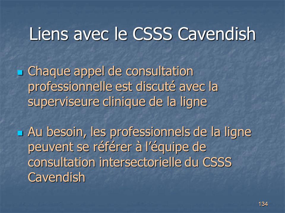 Liens avec le CSSS Cavendish