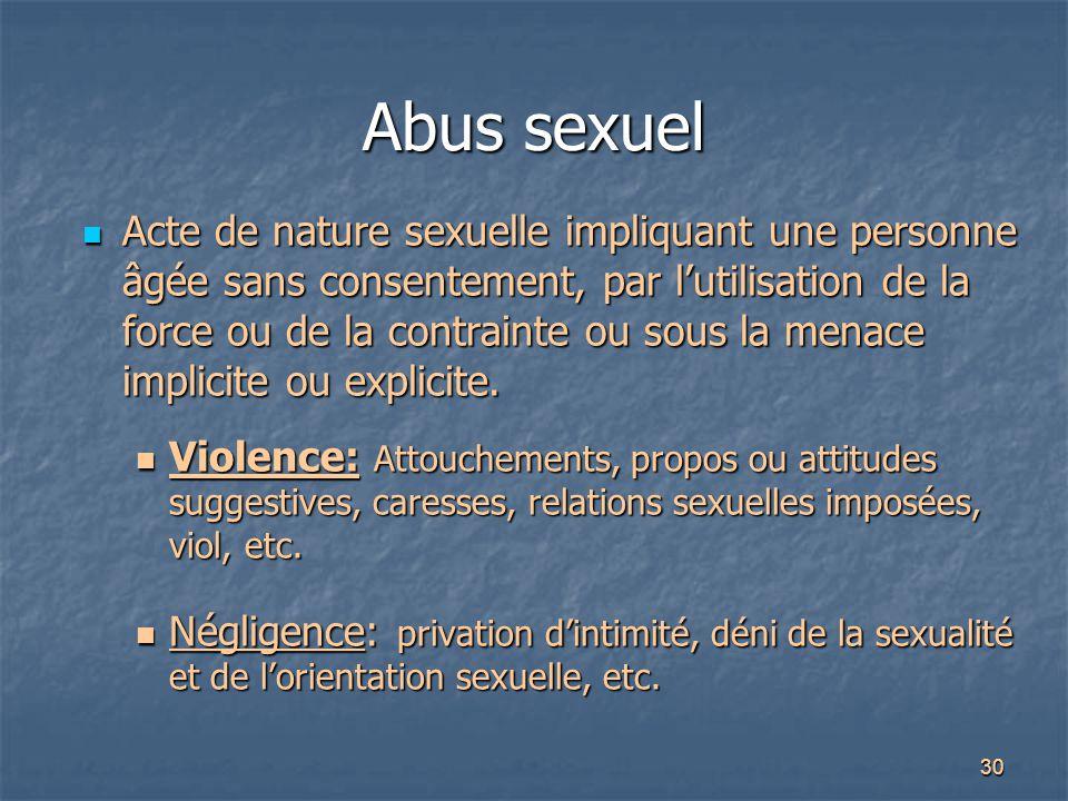 Abus sexuel