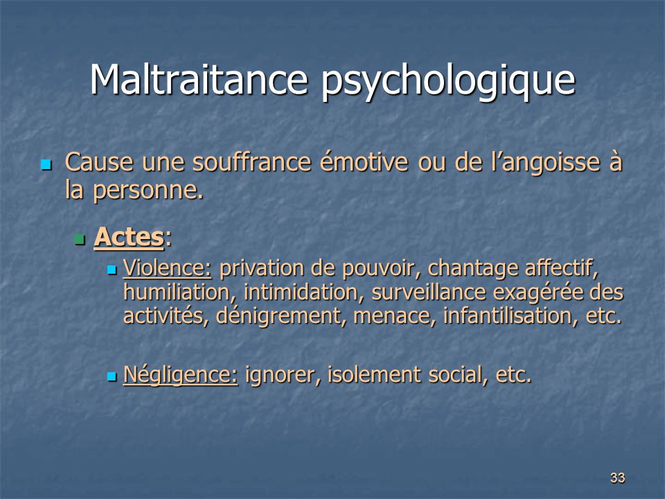 Maltraitance psychologique