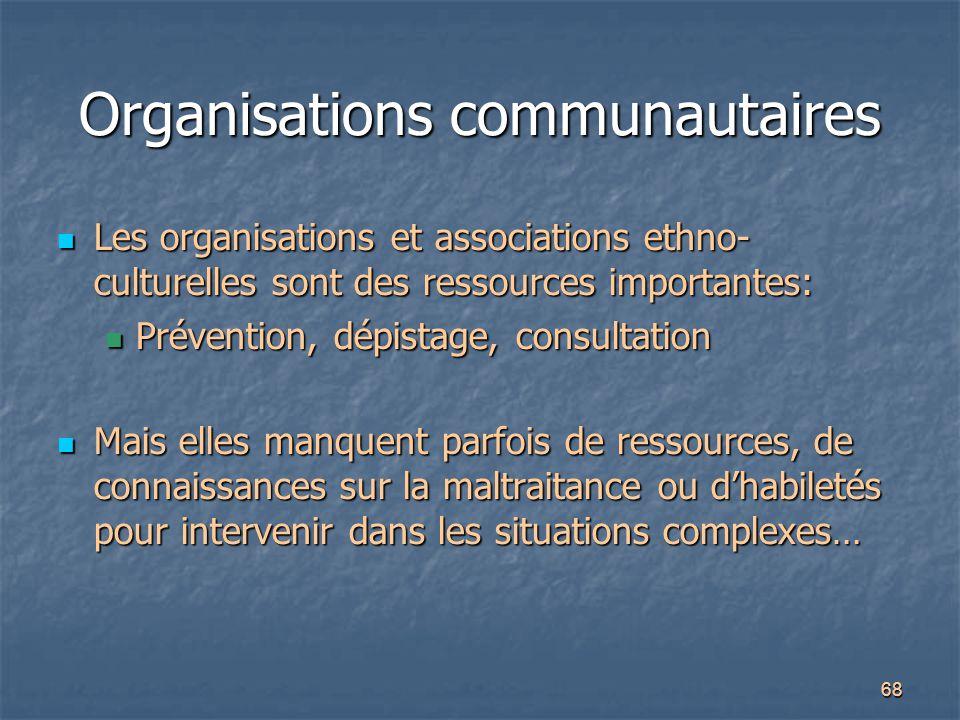 Organisations communautaires