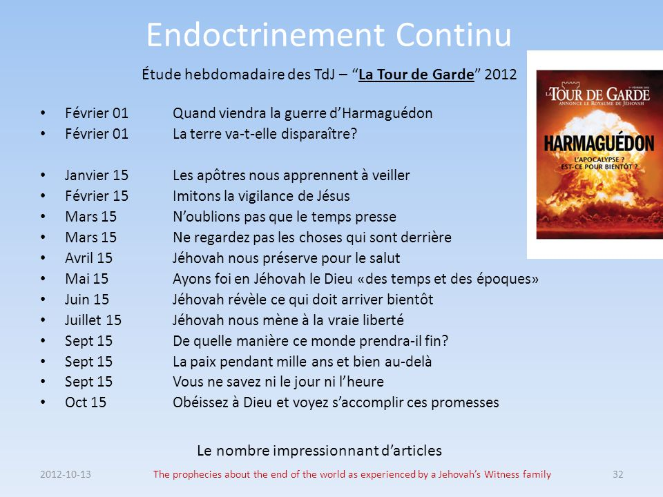 Endoctrinement Continu