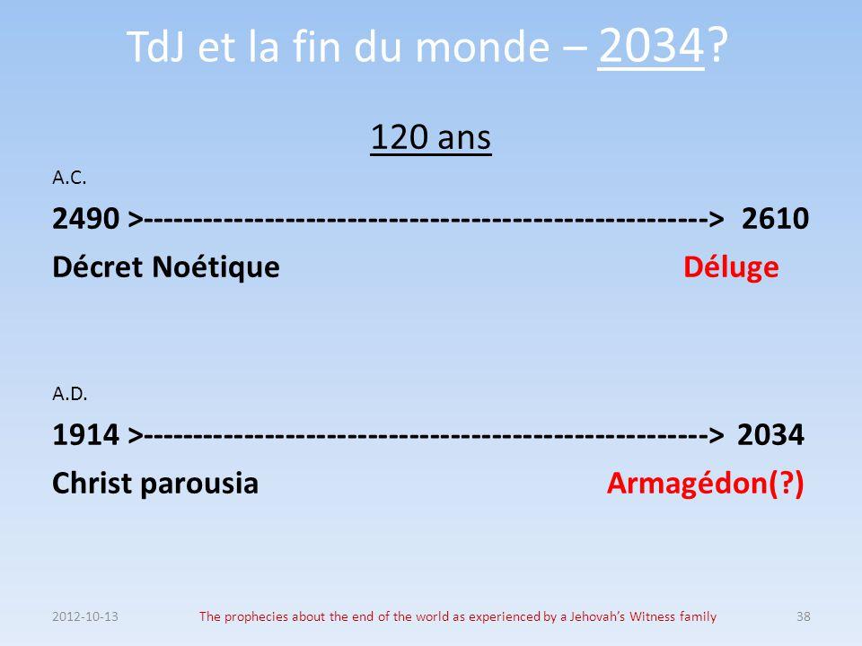 TdJ et la fin du monde – 2034 120 ans