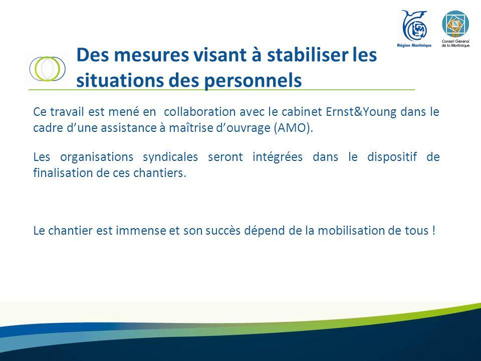 Des mesures visant à stabiliser les situations des personnels