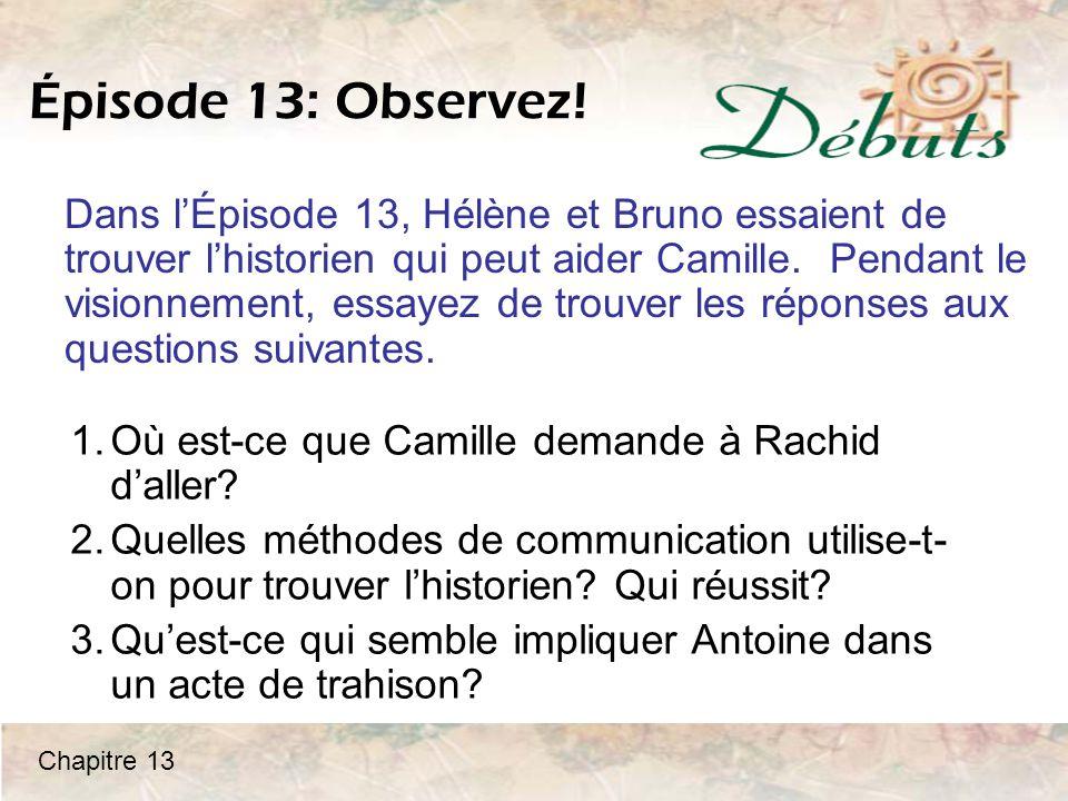 Épisode 13: Observez!