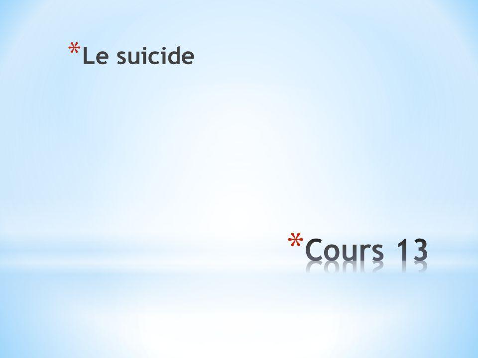 Le suicide Cours 13