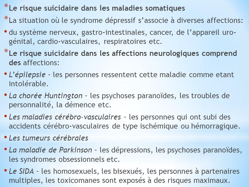 Le risque suicidaire dans les maladies somatiques