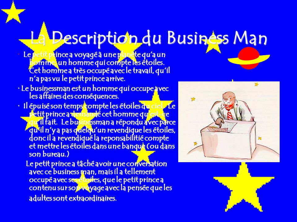 La Description du Business Man