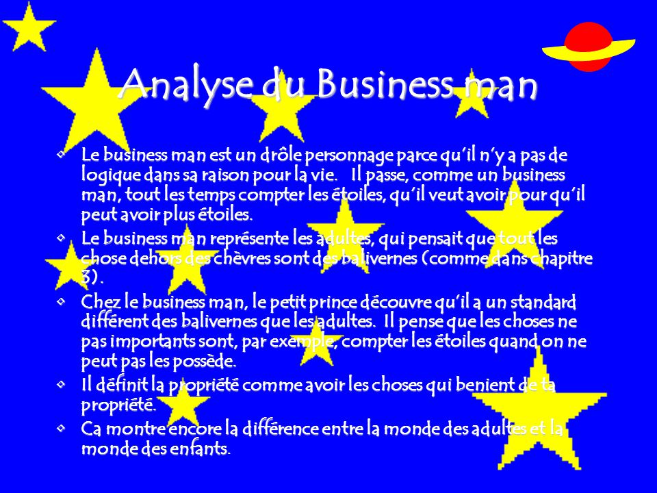Analyse du Business man