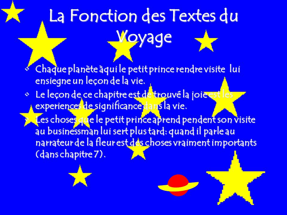 La Fonction des Textes du Voyage