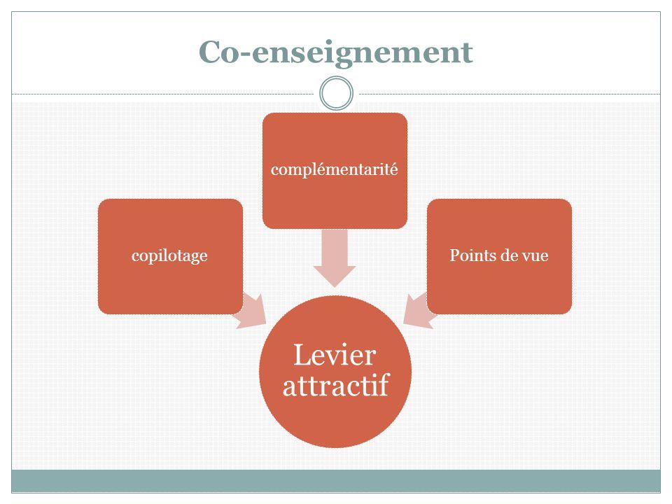 Co-enseignement Levier attractif copilotage complémentarité