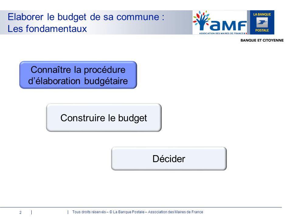 Connaître la procédure d'élaboration budgétaire