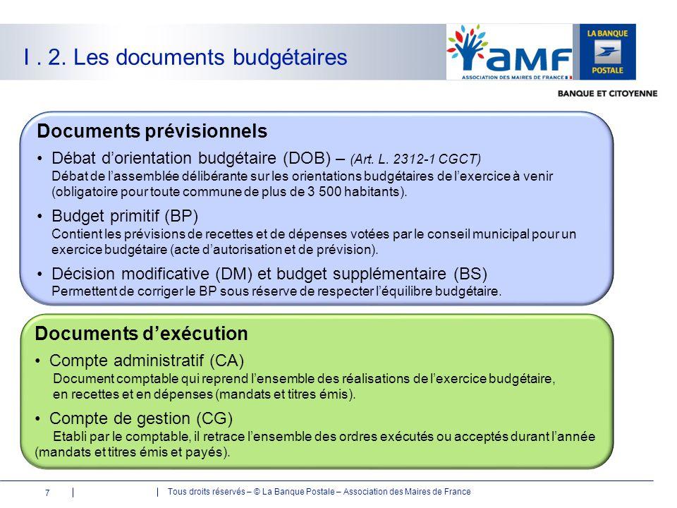 I . 2. Les documents budgétaires