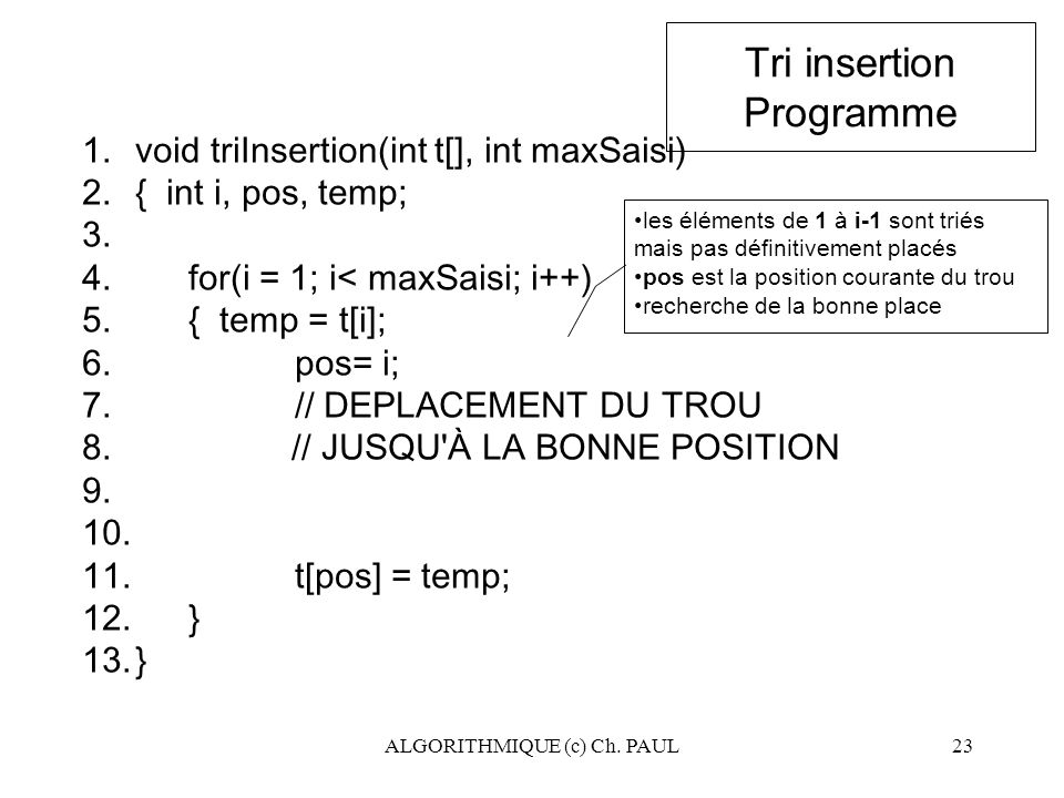Tri insertion Programme
