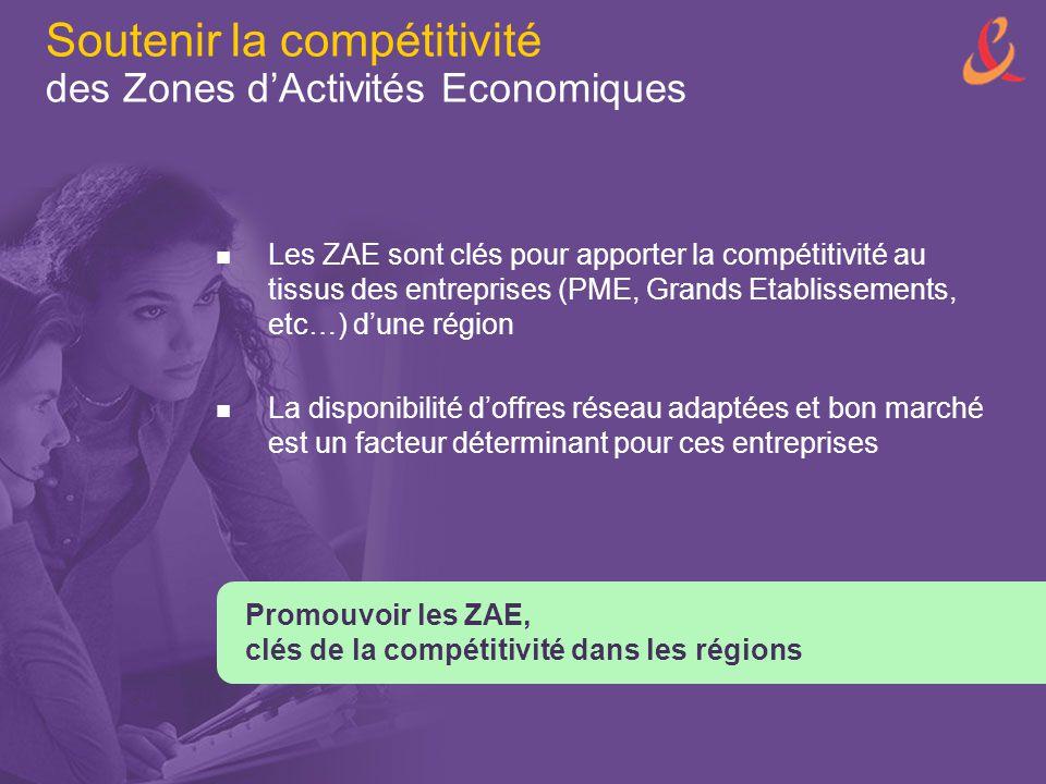 Soutenir la compétitivité des Zones d'Activités Economiques