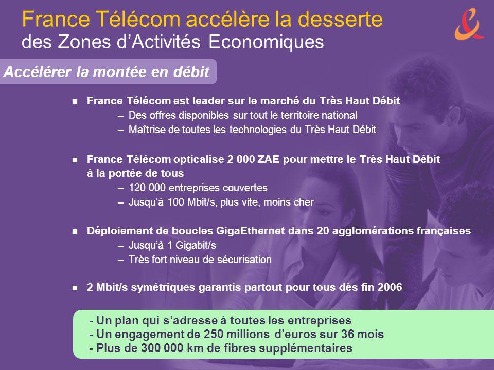 France Télécom accélère la desserte des Zones d'Activités Economiques