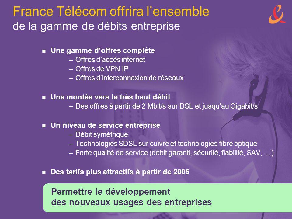 France Télécom offrira l'ensemble de la gamme de débits entreprise